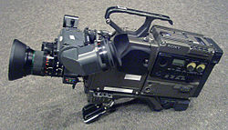 Sony camera head with Betacam SP dock recorder.