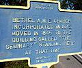 Bethel AME Church and Plaque.JPG