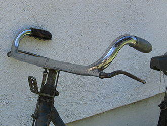 Bicycle handlebar - Porteur type bicycle handlebar, from an Italian Bianchi bicycle, circa 1940.