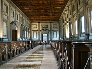 Laurentian Library - The reading room