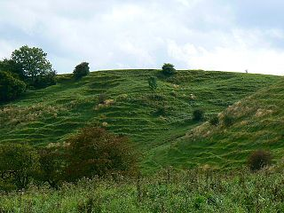 Bincknoll Castle site of a possible Iron Age univallate hillfort located in Wiltshire, England