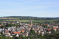 View of the town from the Burgberg