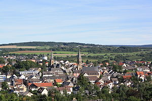 Birkenfeld - View of the town from the Burgberg