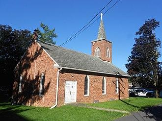 Birmingham, Huntingdon County, Pennsylvania - Image: Birmingham PA Presbyterian built 1953