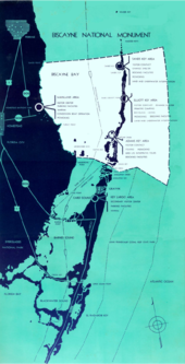 Map of the original Biscayne National Monument