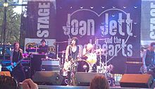 Joan Jett & the Blackhearts performing live in Sacramento, California, 2012