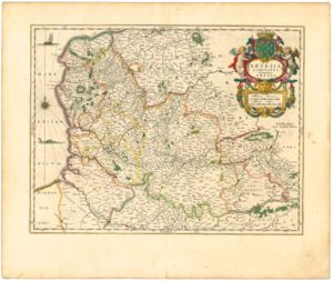County of Artois - Blaeu: Artesia Comitatus, 1645