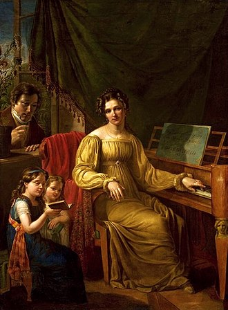 Antoni Blank - Self-portrait with Family (1825)