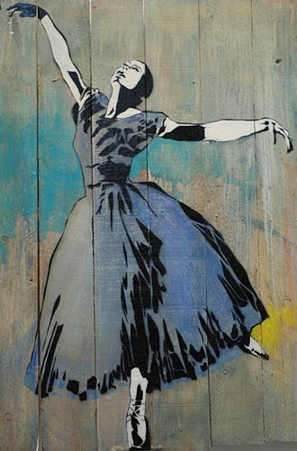 "Blek le Rat - ""Ballerina"" by Blek le Rat at the 941 Geary Gallery, San Francisco"