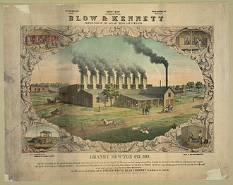 Granby, Missouri - Image: Blow & Kennett...Granby Newton Co., Mo...Collier White Lead Co...c 1860. LCCN2004670560