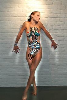 Bodypaint on woman