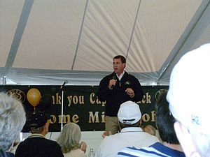 CU AD Mike Bohn giving a speech after the 2005...