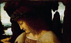 Giovanni Antonio Boltraffio: Narcissus at the Fountain
