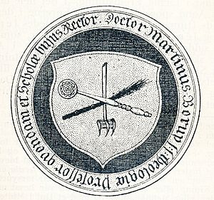 Morten Børup - Morten Børup's crest, copied from his tombstone