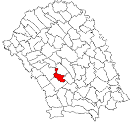Location in Botoșani County