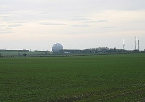 RAF Boulmer - Radar dome at RAF Boulmer