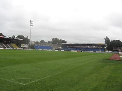 US Boulogne play their home football matches at the 14,500-seat Stade de la Liberation. Boulogne-sur-Mer Stade de la Liberation (5).jpg