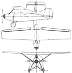 Bourgois-Sénémaud AT-1 3-view Aero Digest December 1929.png