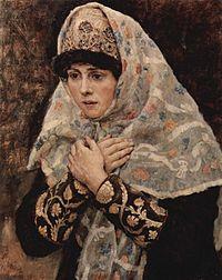 Boyaryna Morozova by V.Surikov - sketch 03 (Tretyakov gallery).jpg
