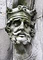 Brain Boru sculpture outside Chapel Royal outside Dublin Castle.JPG