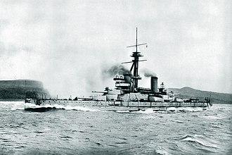 Brazilian battleship São Paulo - Image: Brazilian battleship São Paulo trials