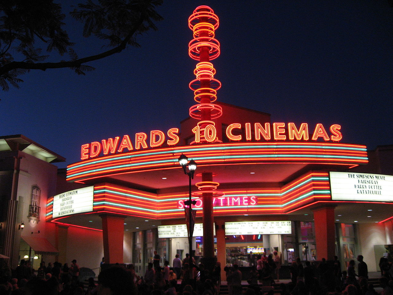 History of Edwards Cinema of Regal Movie Theaters Edwards Cinemas is one of the theater chains with IMAX screens and stadium-style seating which makes going out to see a movie worthwhile. This is just one of the theaters of Regal Entertainment Group.