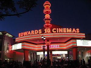 Brea, California - Edwards Cinemas movie theater in Brea downtown.