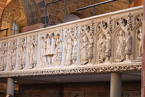 Johann Rode von Wale - Bremen Cathedral: Parapet of the rood screen towards the western quire, commissioned by Rode