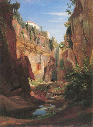 Chrystian Breslauer - Image: Breslauer Krajobraz górski 1847