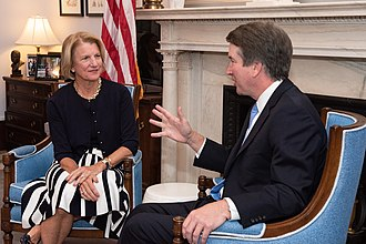 Capito meets with Supreme Court nominee Judge Brett Kavanaugh, July 2018 Brett Kavanaugh with Shelley Moore Capito.jpg