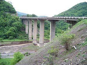 S3 highway (Georgia) - S3 near Ananuri
