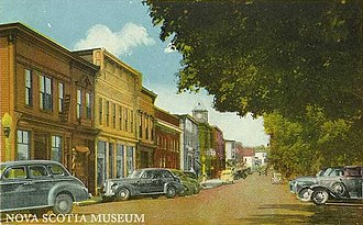 Bridgewater, Nova Scotia - A postcard showing King Street
