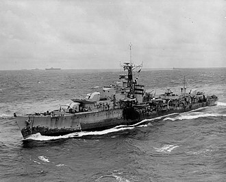 S and T-class destroyer - Image: British T class destroyer 1945