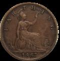 British farthing 1867 reverse.png