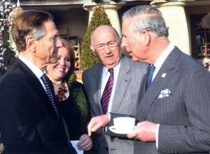 Howard Brodsky - Brodsky, left, talking with Prince Charles at Highgrove House U.K. in 2012.