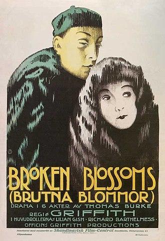 Broken Blossoms - Theatrica release poster
