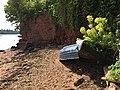 Broken boat at Luxtons Steps near Bishopsteignton (geograph 5742266).jpg