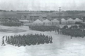 Brookley Air Force Base - World War II scene at Brookley Army Air Field.