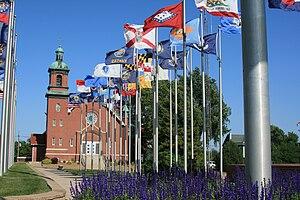 Brooklyn, Iowa - The state flag display in Brooklyn, Iowa.