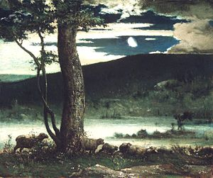 Cross Creek Cemetery - Midnight Moon by Elliot Daingerfield, circa 1906.