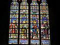 Brugge, Kathedraal, glasraam in het koor.JPG
