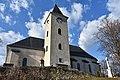 Brusno - tower of the Rom.-Cath. church.JPG