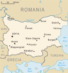Bulgaria - Mappa