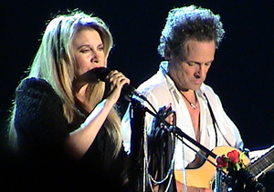 Rumours (album) - Nicks and Buckingham, here photographed in 2003, were integral to Fleetwood Mac's songwriting on Fleetwood Mac and Rumours.