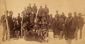 25th Infantry Regiment (United States) - Soldiers of the 25th Infantry, Fort Keogh, Montana, 1890.