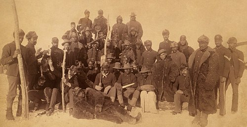 "Buffalo Soldiers, 1890. The nickname was given to the ""Black Cavalry"" by the Native American tribes they fought. Buffalo soldiers1.jpg"