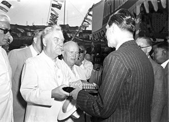 Nikolai Bulganin - Bulganin and Khrushchev in India