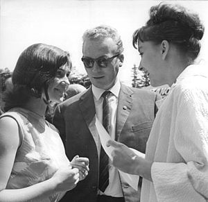 Renate Blume - Blume at the KVIFF with Anastasiya Vertinskaya, 1964