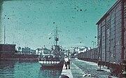 """Bundesarchiv N 1603 Bild-026, Konstanza, Minenleger """"Amiral Murgescu"""" im Hafen"""
