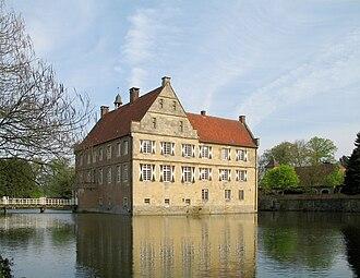 Annette von Droste-Hülshoff - Burg Hülshoff in Havixbeck, Germany: birthplace of Annette von Droste